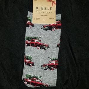 Old Truck & Tree Christmas Socks